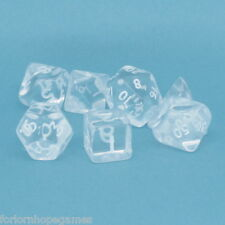 Mini Gem poly dice d4, d6, d8, d10, d12, d20, d00 Clear