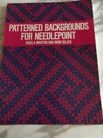 Patterned Decorative Background Patterns for Needlepoint by Marton & Selick 1977