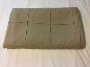 Pottery Barn Kids Twin Size Khaki Heavy Cotton Duvet Cover ~Wood Buttons