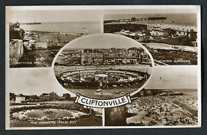Posted 1956: Multiviews of Cliftonville: Oval, Winter Gardens: Palm Bay