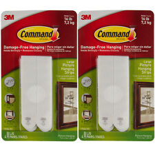 12ct Command 3M Picture & Frame Hanging Strips Sets Large Size White Damage-Free