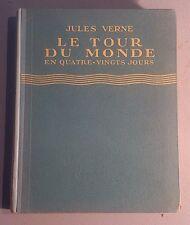VERNE Jules. Le tour du monde en 80 jours. ill. Fouqueray. Hachette. 1943.