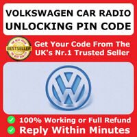 VW Volkswagen Radio Code Unlock Stereo Code PIN Decode RCD 310 300 200 210 215 ✅