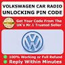 VW Volkswagen Radio Code Unlock Stereo Code PIN Decode | RCD 310 300 200 210 215