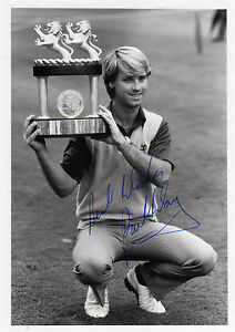 PAUL WAY - SIGNED - PHOTO HOLDING TROPHY - RARE