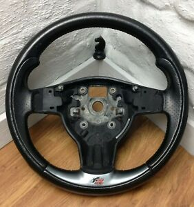 Genuine OEM Seat Leon FR 1P black leather 3 spoke MFSW steering wheel.  A2