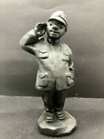 Vintage, figure character Soldier Svejk, cast iron of the USSR