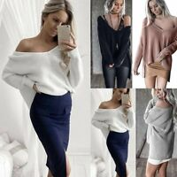 Women Long Sleeve Oversized Loose Knitted Sweater Jumper Cardigan Knitwear Tops