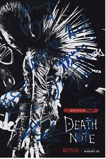 DEATH NOTE CAST SIGNED PHOTO 8x12! NAT WOLFF LAKEITH STANFIELD AUTOGRAPH! SDCC!