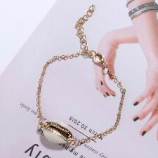 Cowrie Shell Bracelet Seashell Wrist Chain Conch Charm Chain Gold Color