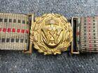 WWI IMPERIAL GERMAN NAVY OFFICER DRESS BROCADE BELT & BUCKLE SET-ORIGINAL