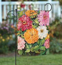 Toland Vibrant Zinnias 12.5 x 18 Colorful Spring Summer Flower Garden Flag