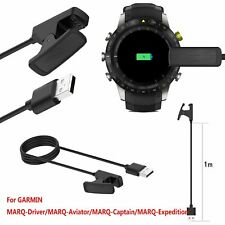 For GARMIN MARQ Series Smartwatch USB Clip Charging Dock Cradle Charger Cable 1m