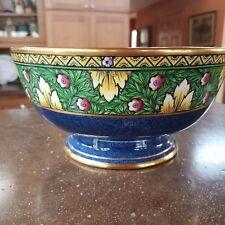 Antique Mintons Minton Centerpiece Bowl Center Medallion Floral Blue Green Gold