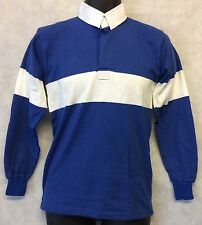 "Mens Rugby Shirt Stripe Long Sleeve Rugby Jersey Polo Shirt Top Size 36"" #4841"