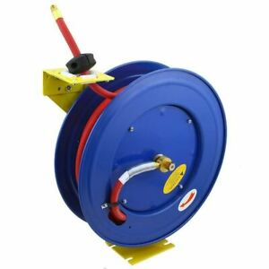 100 Foot Automatic Air Hose Reel Wind Up Auto Rewind Retractable