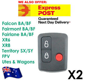 FOR Ford Remote Control BA/BF Falcon Territory SX/SY/Ute/Wagon 02-10 3 Button