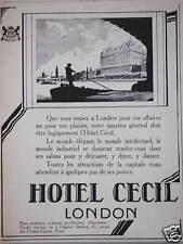 PUBLICITÉ HOTEL CECIL LONDON