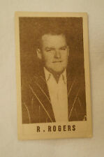 1940's Vintage G.J.Coles Cricket Card - R. Rogers - Queensland.