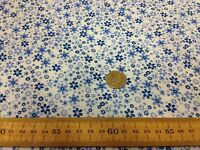 FLORAL poly cotton fabric * BLUE MEADOW * FLOWER PRINT material