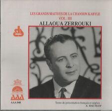 Allaoua Zerrouki -  Les grands maîtres de la chanson Kabyle vol.3 New cd seald