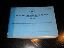 Teilekatalog Mercedes L 206 D / 306 D von 1973