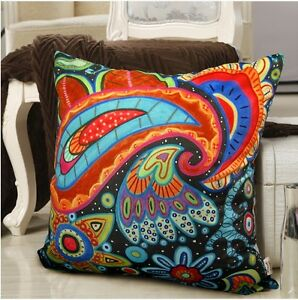 Abstract Paisley VELVET PILLOW COVER Various Sizes FOLK ART Prim KARLA GERARD