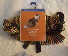 "Dog Costume Witch Size Large 17"" -19"" 21-30lbs. 2 Piece Set New"