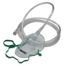 NHS Standard Oxygen (Breathing) Mask - Adult Size - Elongated - 2m tube (2-Pack)