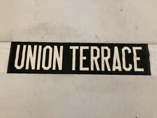 """Aberdeen 1960's Vintage Linen Bus Blind 30""""- Union Terrace"""