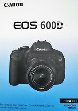 Canon EOS 600D Manual - Printed & Professionally Bound Size A5 - NEW 328 Pages