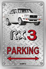 Parking Sign Metal MazdA RX3 4-door-18 - Checkerplate Look