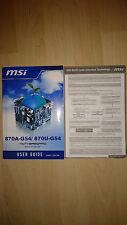 MSI 870A-G54, 870U-G54, MS-7599, User Guide, Handbuch
