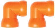 """(2) 3/4"""" 90° Elbow Fittings Loc-Line® USA Original Modular Hose System #61515"""