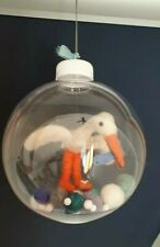Needle Felted Stork, Pelican, Hanging Bauble, New Baby, Christmas