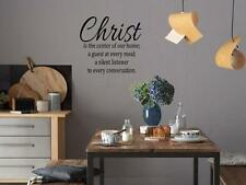 CHRIST THE CENTER OF OUR HOME Christian Vinyl Wall Decal Lettering Words Saying