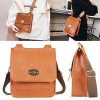 Dames faux cuir grand sac à bandoulière messenger sac à main mode femmes ME