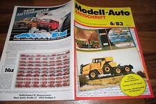 MODELL-AUTO 6/1983 -- Golf GTI Super / Diorama:  Verkehrsunfall mit Ölauslauf