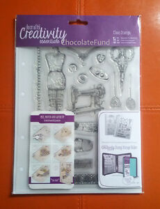 Docrafts A5 Clear Stamp Set (19pcs) Haberdashery - Fashion Vintage Sewing
