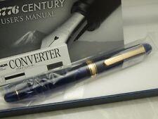 Japanese FP PLATINUM #3776 CENTURY CHARTRES BLUE 14K EF-nib with Converter