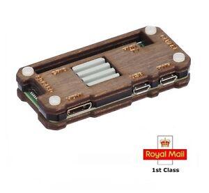 Raspberry Pi Zero W Case with Ceramic Heatsink - Dark Wood