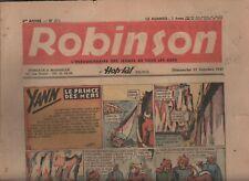 ROBINSON n°270. Zone Libre 12 octobre 1941. Bel état (réf. RC29)