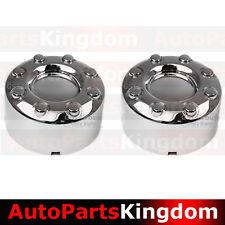 """05-17 Ford Super Duty DUALLY Chrome 17"""" 8 Lug REAR Wheel Center Hub Cap 1 PAIR"""