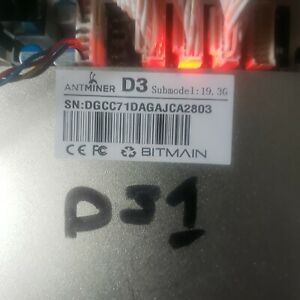 Bitmain Antminer D3 19.3GH/s X11 Miner
