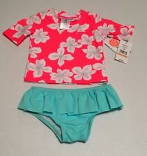 NWT CARTER'S Infant Girls SIZE 12 MONTHS 2 PIECE SWIMSUIT UPF50+ MELON FLOWERS