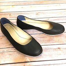 EUC Ecco Dlite Black Ballerina flats size 9 Perforated Slip On