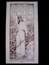 1972 David Bowie Spiders Donnie Dope Flyer Fisher Theater Russ Gibb Detroit Rock