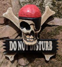 Do Not Disturb Wooden Door Sign Pirate Skull and Cross Bones Jolly Roger