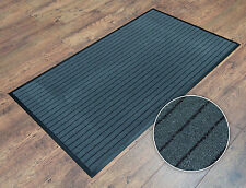 Grey Washable Heavy-Duty Non-Slip Dirt-Barrier Office Business Entrance Door Mat