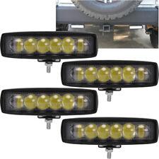 4PC Polaris Ranger 18W 6''LED Work Light Bar Spot offroad Lamp ATV RZR Sportsman
